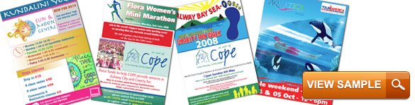 fliers and leaflets