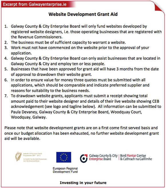 Web Development Grants, Galway | AdvanceDesign